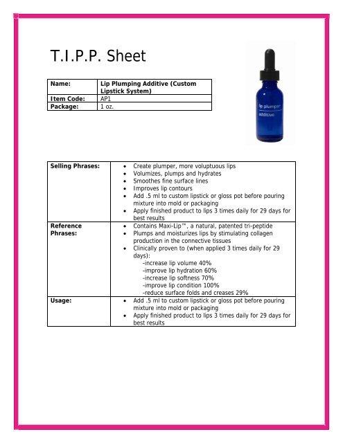 Lipstick Additive - Colorlab Private Label