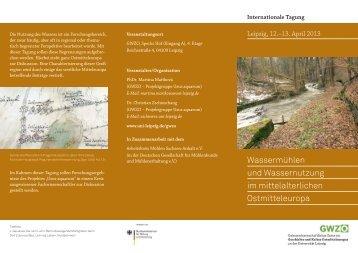 Wassermühlen und Wassernutzung im mittelalterlichen ...
