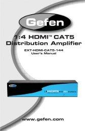 ® 1:4 HDMI CAT5 Distribution Amplifier - Gefen