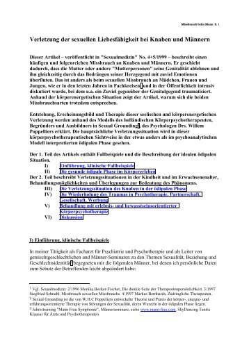 Verletzung der sexuellen Liebesfähigkeit bei Knaben ... - Mann-Frau