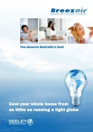 Cool your whole home from as little as running a light globe