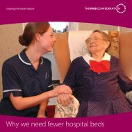 NHS Confederation report - why we need fewer beds