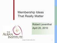 Membership Ideas That Really Matter