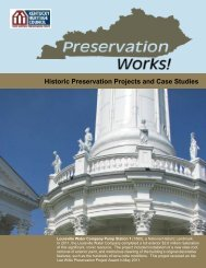 Historic Preservation Projects and Case Studies - Kentucky ...