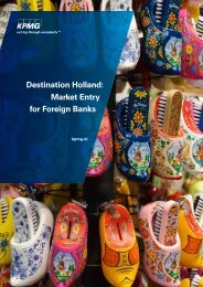 Destination Holland Market Entry for Foreign Banks (KPMG)