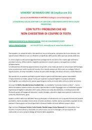 scheda spettacolo - Nazionale Italiana Scrittori