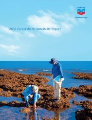 Chevron Corporate Responsibility Report 2010