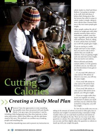 Cutting Calories - Intermountain Healthcare