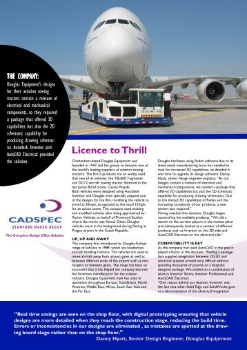 Douglas Equipment Casestudy (PDF 1264 Kb) - Cadspec
