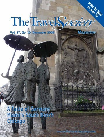 Vol. 27 No. 10 December 2009 - The Travel Society