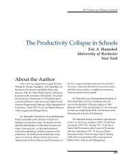 The Productivity Collapse in Schools - Eric A. Hanushek