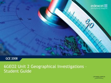 Support and guidance - Unit 2 - Geographical Investigations ...