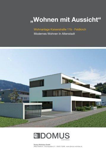 """""""Wohnen mit Aussicht"""" - DOMUS Wohnbau GmbH"""