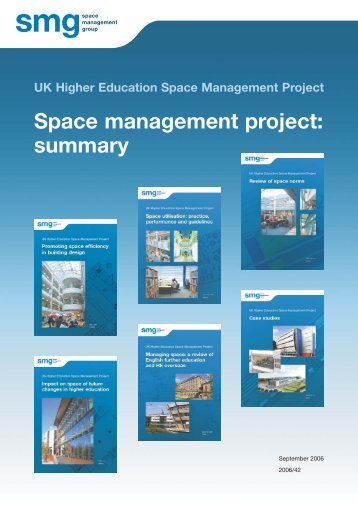 Space management project: summary - Space Management Group