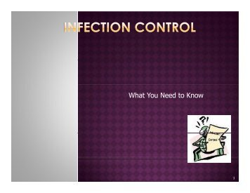 Infection Control PPt - UCSF Fresno