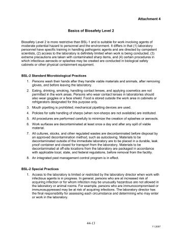 Attachment 4 - Basics of Biosafety Level 2 - OFEO