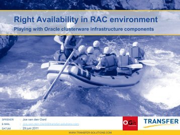 Right Availability in RAC environment
