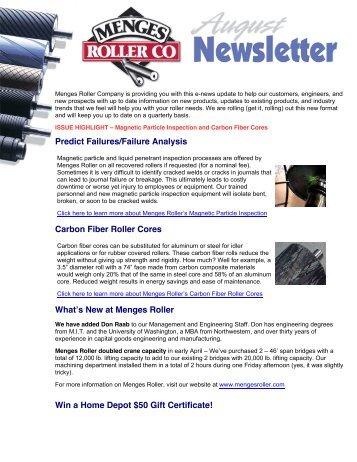 Predict Failures/Failure Analysis Carbon Fiber Roller Cores What's ...