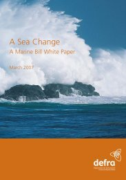 Marine Bill White Paper - ARCHIVE: Defra
