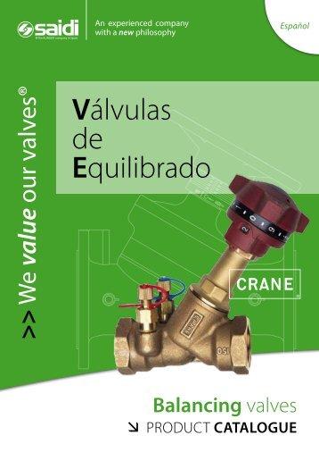 catálogo saidi válvulas de equilibrado crane