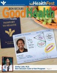 August – October 2013 - Bon Secours Senior Health