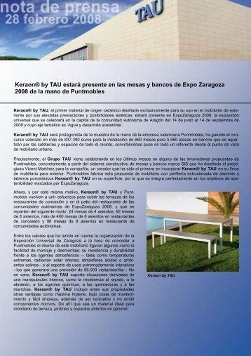 Keraon® by TAU estará presente en las mesas y ... - Tile of Spain