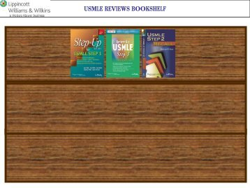 USMLE REVIEWS BOOKSHELF