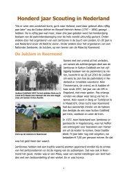 Honderd jaar Scouting in Nederland - kelpin.nl