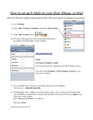 How to set up E-Mail on your iPod, iPhone, or iPad