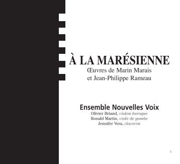 À la Marésienne - CD Baroque - K617