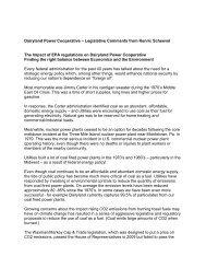 The Impact of EPA regulations on Dairyland Power Cooperative