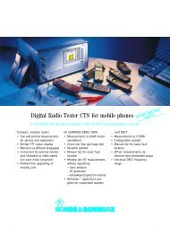 Digital Radio Tester CTS for mobile phones