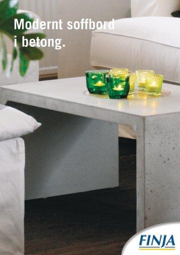 Modernt soffbord i betong. - Finja