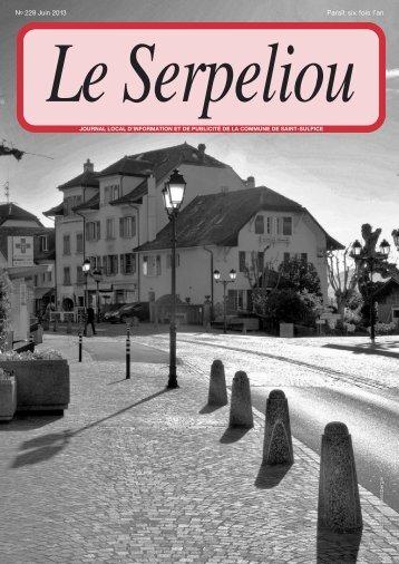 No 228 - Juin 2013 [PDF, 3.00 MB] - Commune de St-Sulpice