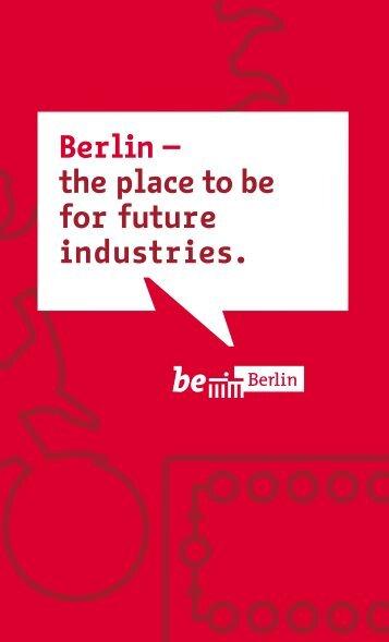 Download Imagebroschüre Industriekampagne - be Berlin - Berlin.de