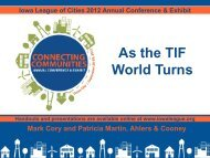 As the TIF World Turns - Iowa League of Cities