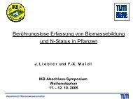 Berührungslose Erfassung von Biomassebildung und N-Status in ...