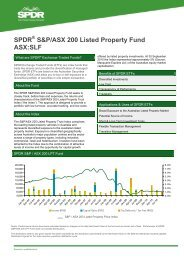 SPDR S&P/ASX 200 Listed Property Fund ASX:SLF