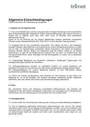 Allgemeine Einkaufsbedingungen, Harzgerode - TRIMET Aluminium ...