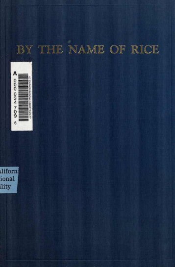 By the Name of Rice