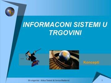 Informacioni sistemi u trgovini - Koncepti