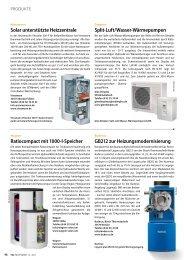 Split-Luft/Wasser-Wärmepumpen Solar ... - TGA Fachplaner