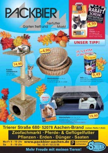 MÖKBIER - Packbier Garten Treff und Tierfutter Markt in Aachen ...