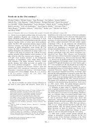 Fresh air in the 21st century? - Harvard Atmospheric Chemistry ...