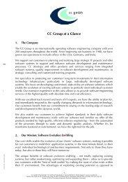 CC Overview English [160 KB] - CC GmbH