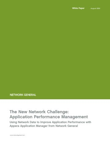 The New Network Challenge: Application Performance Management