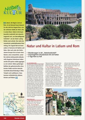 Natur und Kultur in Latium und Rom - Wikinger Reisen GmbH
