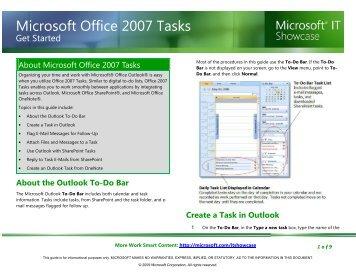 Microsoft Office 2007 Tasks