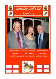 to read April 2013 newsletter - Romiley Golf Club