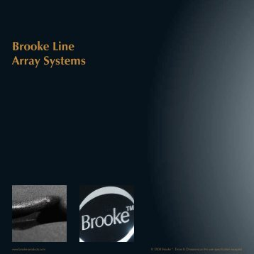 Brooke Line Array Systems